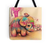 vintage tie dye elephants Tote Bag