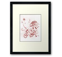 Hand Drawn Octopus Framed Print