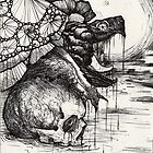 swamp hag; snapping turtle in the night by resonanteye