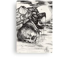 swamp hag; snapping turtle in the night Canvas Print