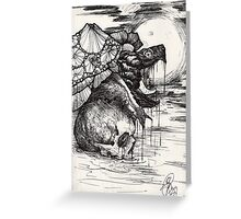 swamp hag; snapping turtle in the night Greeting Card