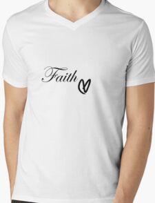 Faith Heart Mens V-Neck T-Shirt