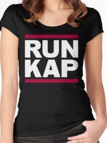 """San Francisco 49ers """"RUN KAP"""" Design!  Women's Fitted Scoop T-Shirt"""