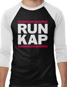 "San Francisco 49ers ""RUN KAP"" Design!  Men's Baseball ¾ T-Shirt"