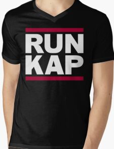 "San Francisco 49ers ""RUN KAP"" Design!  Mens V-Neck T-Shirt"