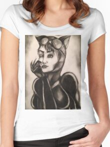 CATWOMAN T-SHIRTS AND STICKERS Women's Fitted Scoop T-Shirt