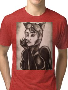 CATWOMAN T-SHIRTS AND STICKERS Tri-blend T-Shirt