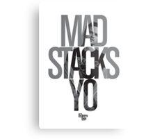Mad Stacks Yo Metal Print