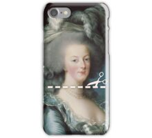 Cut Here - Marie Antoinette iPhone Case/Skin