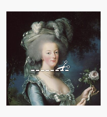 Cut Here - Marie Antoinette Photographic Print