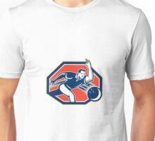 Bowler Throw Bowling Ball Retro Unisex T-Shirt