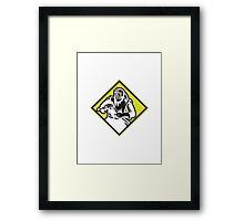 Sandblaster Sandblasting Diamond Retro Framed Print