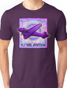 FLY GIRL AVIATION VINTAGE AIRPLANE GEAR Unisex T-Shirt
