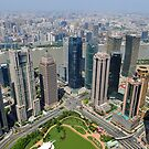 View Of Shanghai Taken From The Jinmao Tower, Pudong, China. by Ralph de Zilva