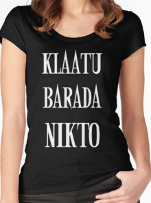 KLAATU BARADA NIKTO Women's Fitted Scoop T-Shirt