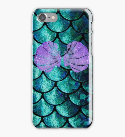 Mermaid Scales & Shell Bra iPhone Case/Skin