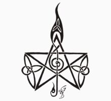 Musical Celtic Pentagram by GingerNutDesign