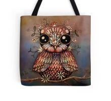 little rainbow flower owl Tote Bag