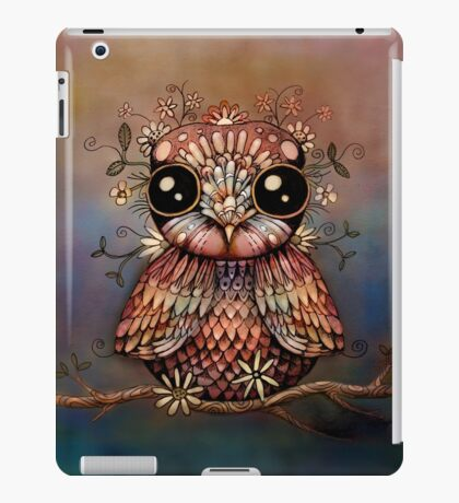 little rainbow flower owl iPad Case/Skin