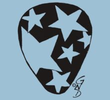 Plectrum 1 black see through by GingerNutDesign