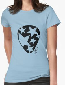 Plectrum 1 black see through Womens Fitted T-Shirt