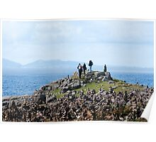 Among the cairns: Neist Point Poster