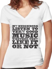Very Good Music Women's Fitted V-Neck T-Shirt