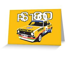 Ford Escort Mk2 Rally Car Greeting Card
