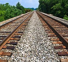 Railroad Tracks to Infinity by Kenneth Keifer