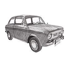 Fiat 850 Photographic Print