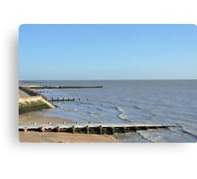 Beach at Walton on the Naze Canvas Print