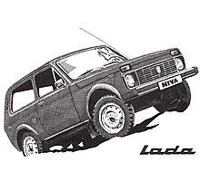 Lada Niva Photographic Print