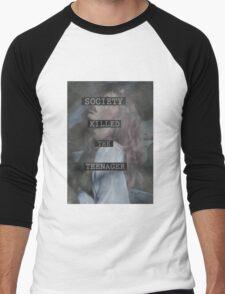 Society Killed the Teenager Men's Baseball ¾ T-Shirt