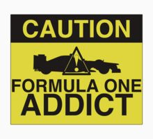CAUTION! Formula One Addict 2 Kids Tee