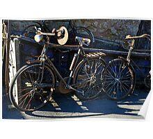 Vintage Bicycles Poster