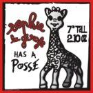 Sophie la Girafe Has A Posse Giraffe Retro by neoPOPart