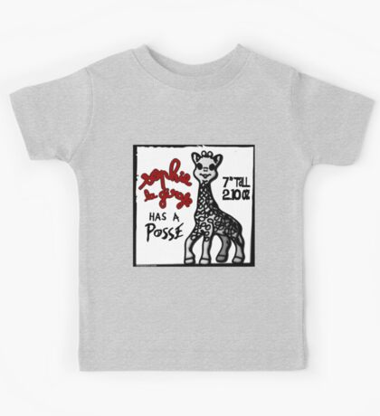Sophie la Girafe Has A Posse Giraffe Retro Kids Tee