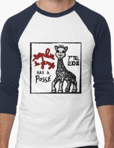 Sophie la Girafe Has A Posse Giraffe Retro Men's Baseball ¾ T-Shirt