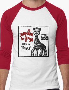 Sophie la Girafe Has A Posse Giraffe Retro Men's Baseball ¾ T-Shirt