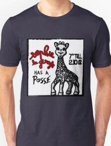 Sophie la Girafe Has A Posse Giraffe Retro T-Shirt