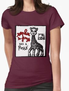 Sophie la Girafe Has A Posse Giraffe Retro Womens Fitted T-Shirt