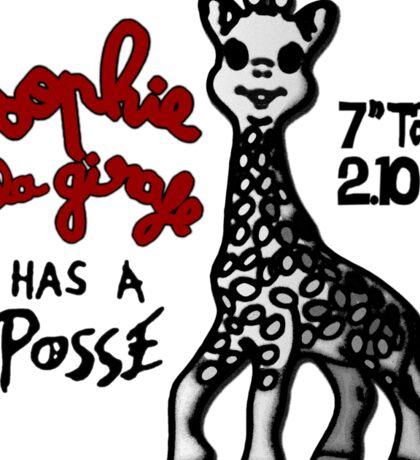 Sophie la Girafe Has A Posse Giraffe Retro Sticker