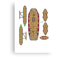 Wargaming ship plan South Sea Islands Canvas Print