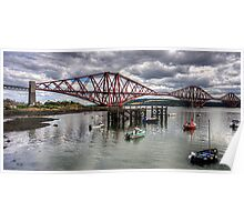 The Bridge from North Queensferry Bay Poster