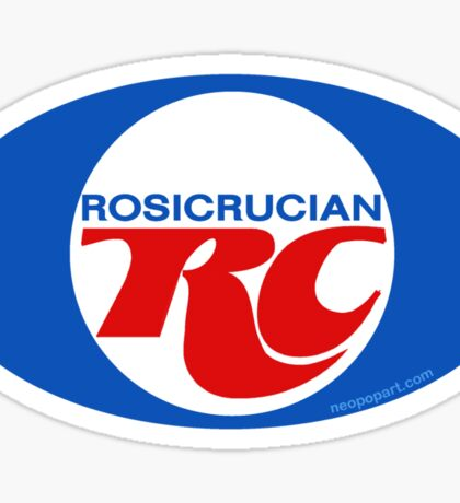 Rosicrucian RC Royal Crown Cola Logo Retro Vintage Sticker