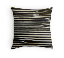 Finger Print in the Sand - Gold Throw Pillow
