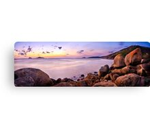 Sunset at Squeaky Beach Canvas Print