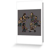 The Slugging Dead Greeting Card