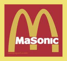 Masonic Freemason McDonald's Esoteric Symbol One Piece - Short Sleeve