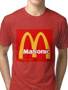 Masonic Freemason McDonald's Esoteric Symbol Tri-blend T-Shirt